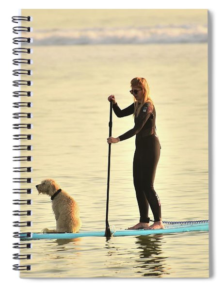 Paddleboarding With Her Dog Spiral Notebook