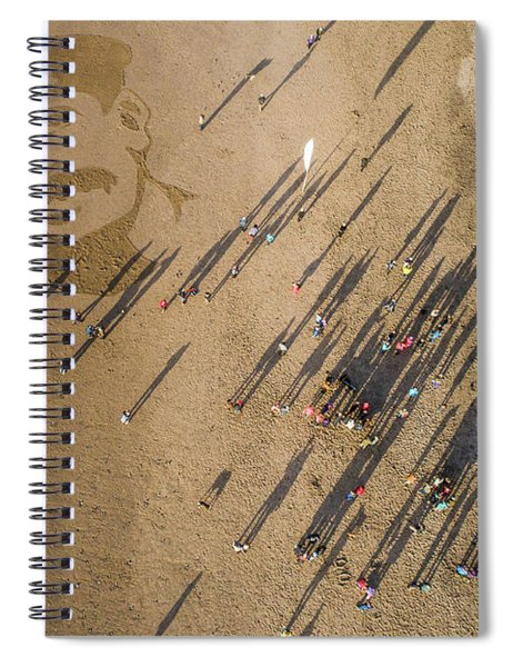 Pages Of The Sea - Ynyslas Beach Wales Spiral Notebook