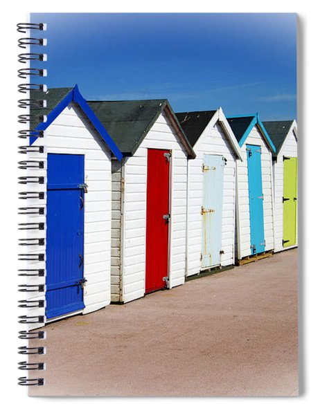 Paignton Beach Huts Spiral Notebook