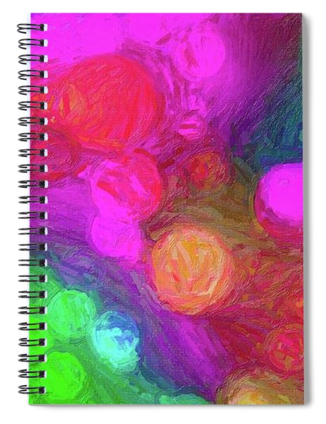 Painted Bokeh Impasto Pinkish Purple Spiral Notebook