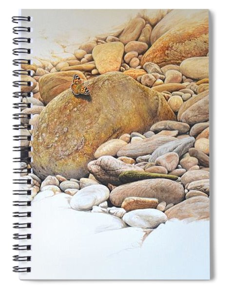 Spiral Notebook featuring the painting Painted Lady Butterfly by Alan M Hunt