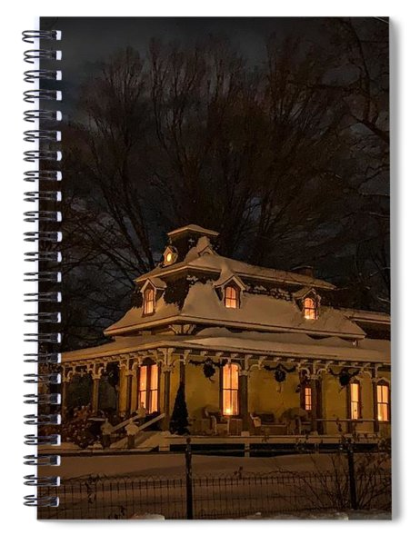 Painted Lady In Winter Spiral Notebook