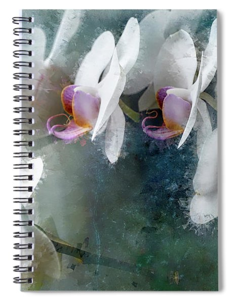 Painted Orchids Spiral Notebook