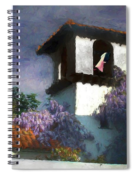 Painted Washline In A Spanish Tower Spiral Notebook