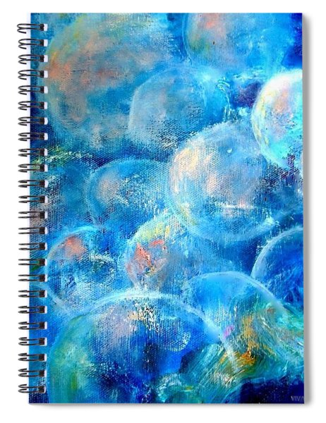 Painterly Bubbles Spiral Notebook