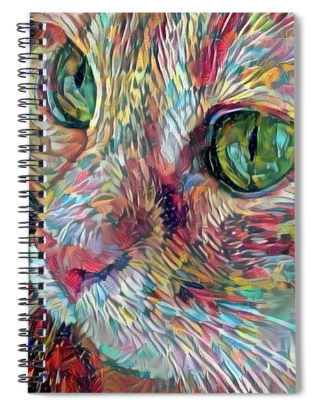 Painterly Ginger Cat Spiral Notebook