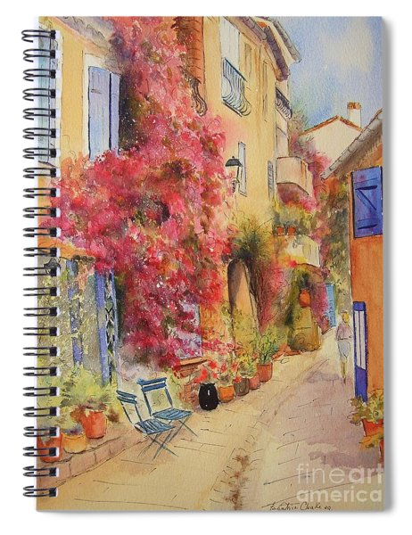 Painting Of Grimauld Village France Spiral Notebook