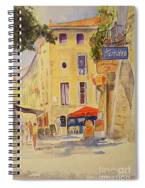 Painting Of Uzes France Spiral Notebook