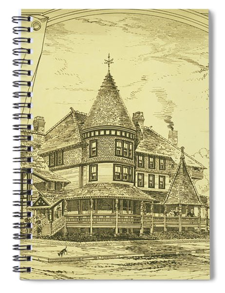 Pair Of Twin Cottages, Hastings Square, Spring Lake, Nj Spiral Notebook