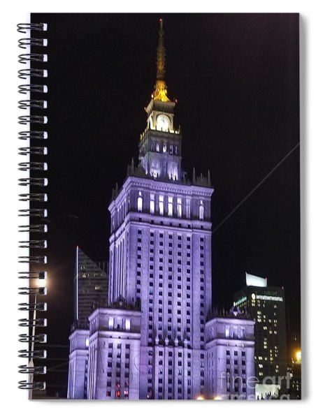 Palace  Of Culture And Science  Spiral Notebook