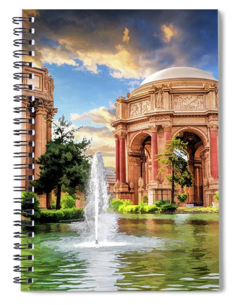 Palace Of Fine Arts In San Francisco Spiral Notebook