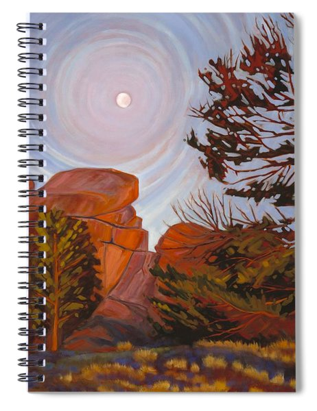 Pale Moon Over Vedauwoo Spiral Notebook