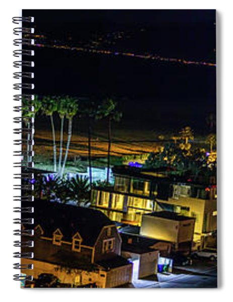 Palisades Park Night - Panorama Spiral Notebook