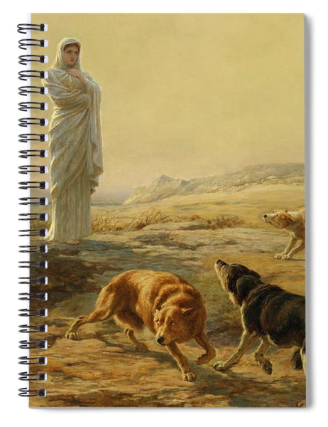 Pallas Athena And The Herdsman's Dogs, 1876 Spiral Notebook