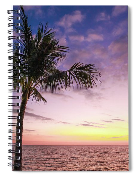Spiral Notebook featuring the photograph Palm In Paradise by Emily Johnson