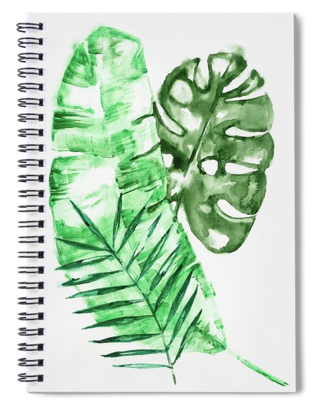 Palm Leaves-banana, Coconut, Monstera Spiral Notebook
