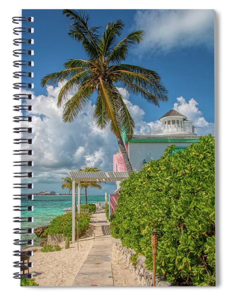 Palm On Pearl Island Spiral Notebook