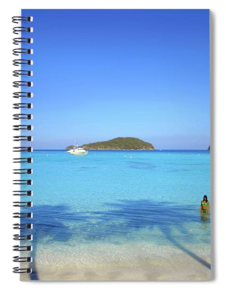 Palm Shadows On The Atlantic Spiral Notebook