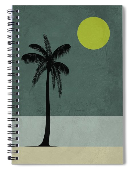 Palm Tree And Yellow Moon Spiral Notebook