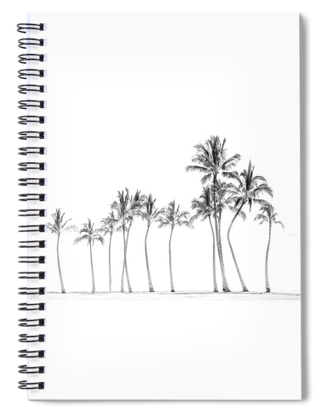 Palm Tree Horizon In Black And White Spiral Notebook