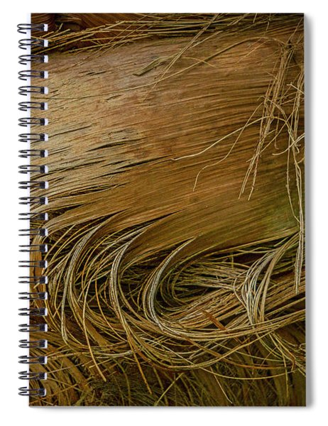 Palm Tree Straw Spiral Notebook