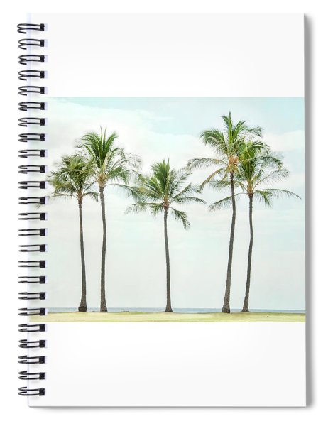 Palm Trees On The Beach Spiral Notebook