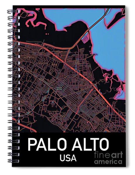 Palo Alto City Map Spiral Notebook