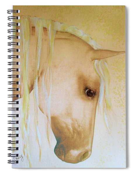 Palomino Head Study Spiral Notebook by Valerie Anne Kelly