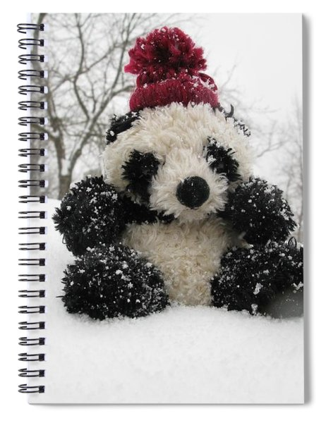 Panda On The Snowy Day Spiral Notebook