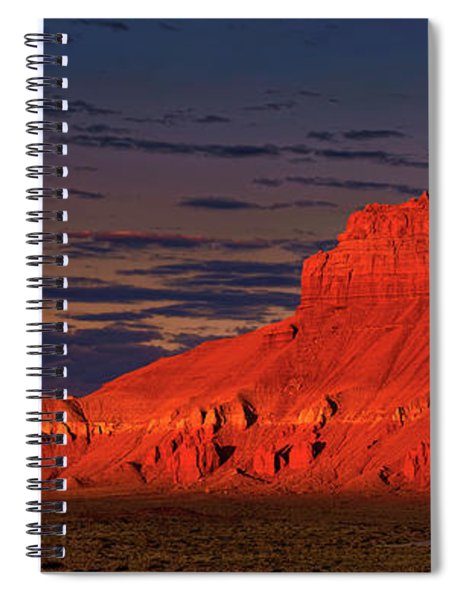 Panorama Dawn Light On Wild Horse Butte Goblin Valley Utah Spiral Notebook