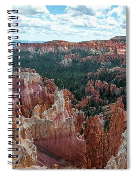 Panorama  From The Rim, Bryce Canyon  Spiral Notebook