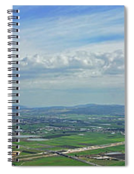 Panorama Of Jezreel Valley Spiral Notebook
