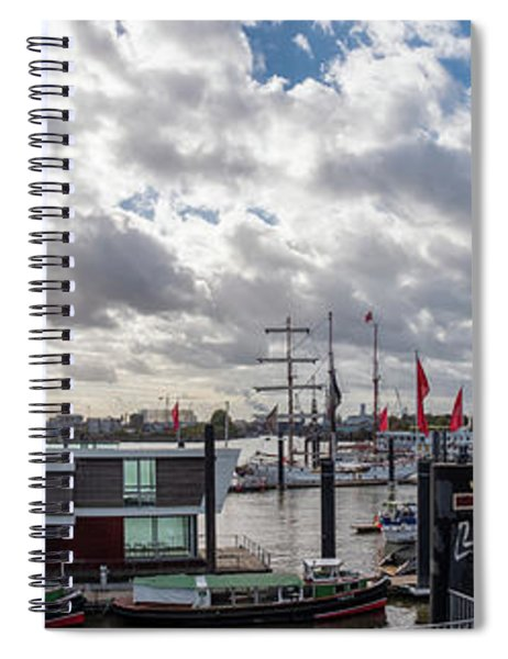 Panoramic View Of Hamburg Spiral Notebook