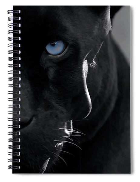 Spiral Notebook featuring the digital art Pantheress by ISAW Company
