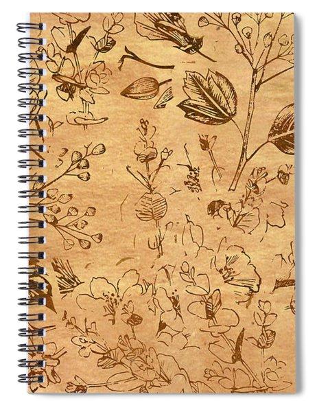 Paper Petal Patterns Spiral Notebook