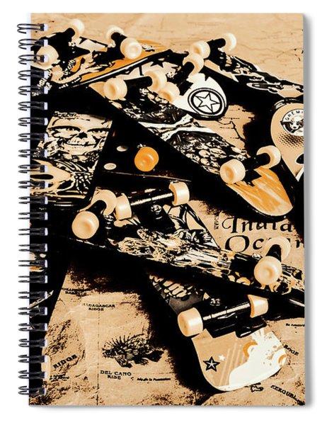 Paper Skate Spiral Notebook