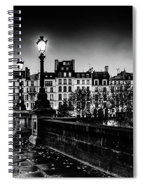Paris At Night - Pont Neuf Spiral Notebook