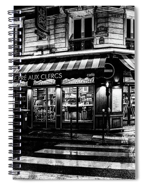 Paris At Night - Rue Bonaparte Spiral Notebook