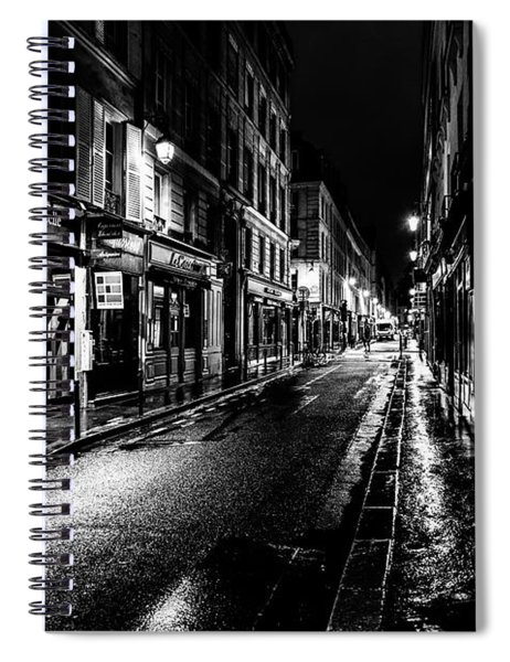 Paris At Night - Rue De Vernueuil Spiral Notebook