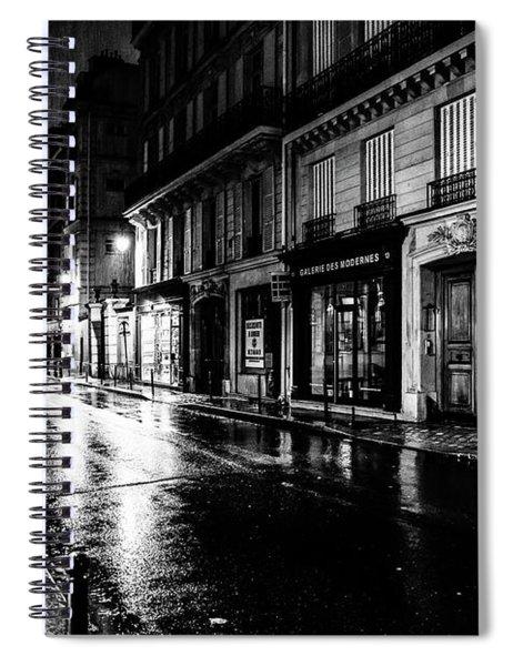 Paris At Night - Rue Saints Peres Spiral Notebook