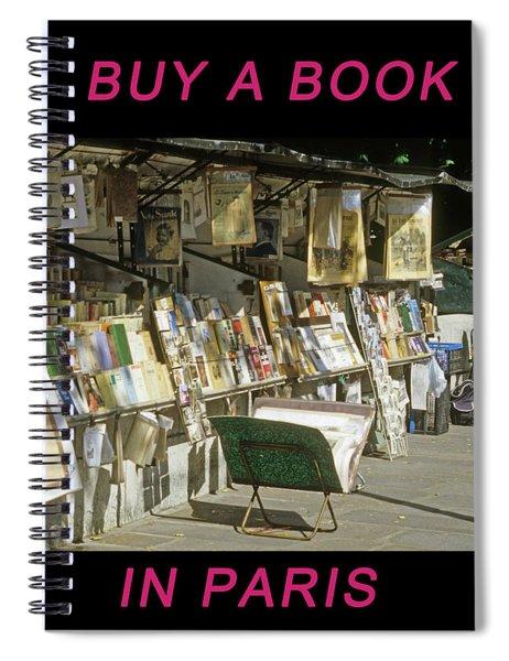 Paris Bookseller Spiral Notebook
