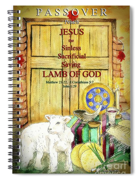 Passover - Jesus - Lamb Of God Spiral Notebook