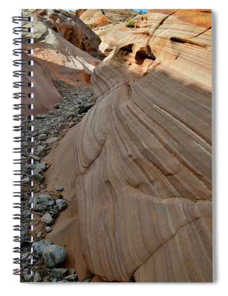 Pastel Canyon Sandstone Waves In Valley Of Fire Spiral Notebook