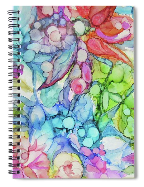 Pastel Flowers - Alcohol Ink Spiral Notebook