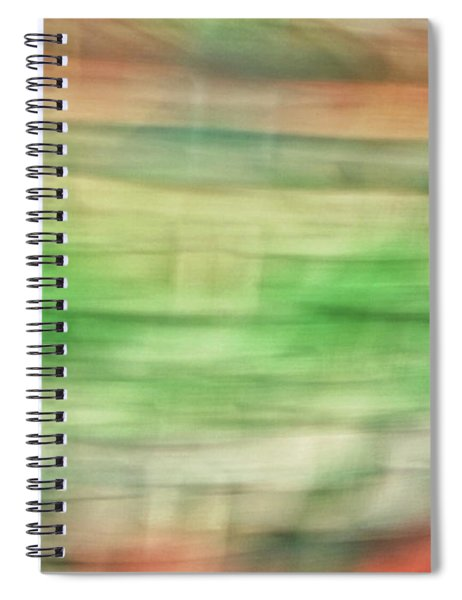 Pastel Lines Abstract Background Of Oranges, Greens And Yellows Spiral Notebook