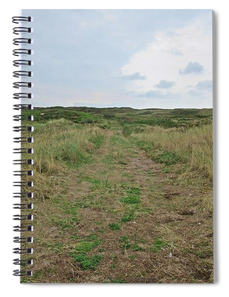Path Near De Mokbaai On Texel Spiral Notebook