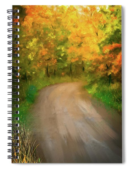 Path Traveled To Autumn Spiral Notebook