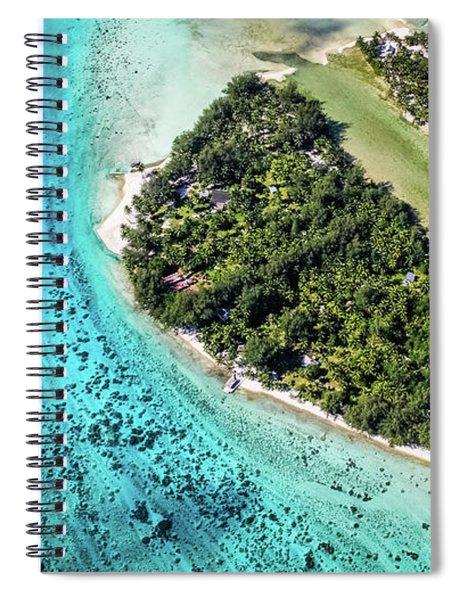 Bora Bora - Pathway To The Ocean Spiral Notebook