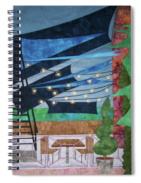 Patio At The Winds Spiral Notebook