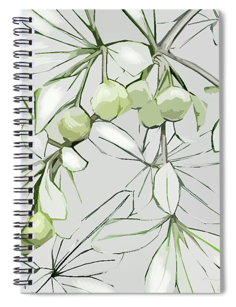 Spiral Notebook featuring the digital art Patio Print by Gina Harrison